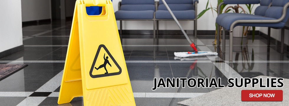 janitorial wet floor sign